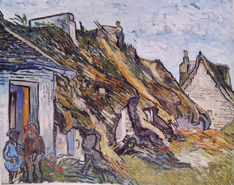 Cascinali a Chaponval di Vincent van Gogh