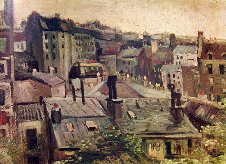 Vincent van Gogh:Case a Parigi - Veduta parigina
