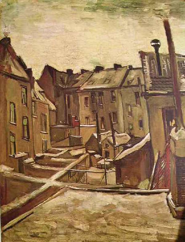 Case di Anversa - Veduta ad Anversa di Vincent van Gogh