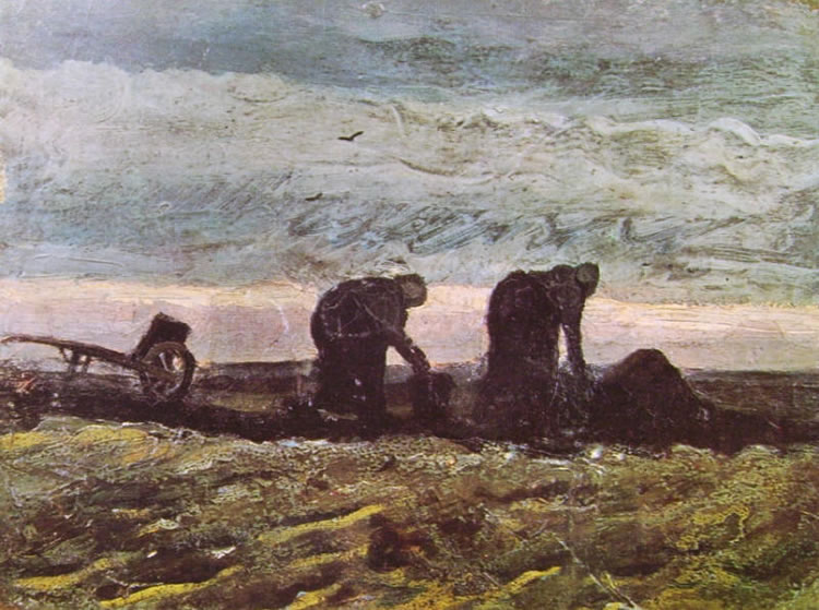 Vincent van Gogh:Due contadine che vangano