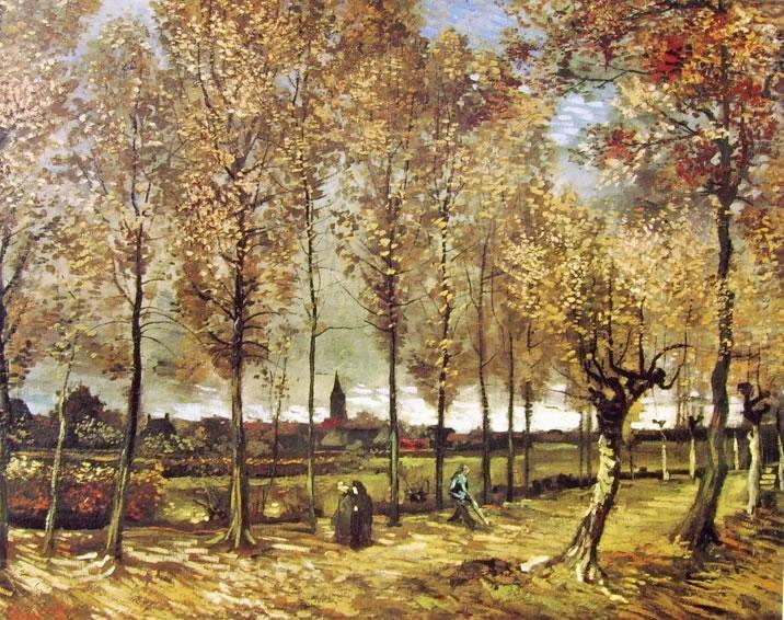 Filari di pioppi di Vincent van Gogh