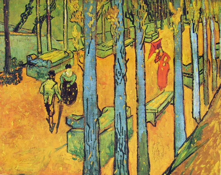 Il viale degli Alycamps di Vincent van Gogh