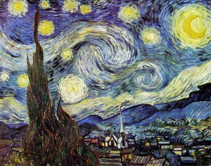 Vincent van Gogh: La notte stellata, New York Museum of Modern art.
