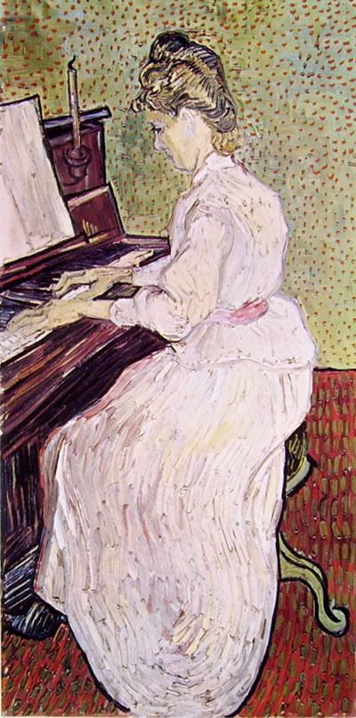 Vincent van Gogh:Marguerite Gachet al piano