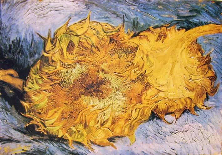 Vincent van Gogh:Natura morta con girasoli