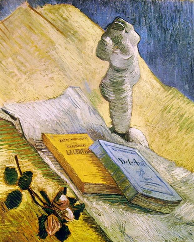 Vincent van Gogh:Natura morta con libri e gesso
