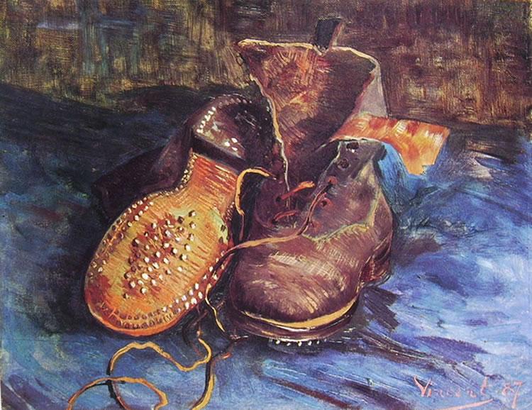 Vincent Van Gogh:Natura morta con paio di scarpe