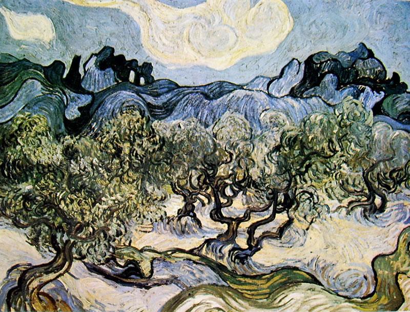 Vincent van Gogh:Oliveto con nuvola bianca