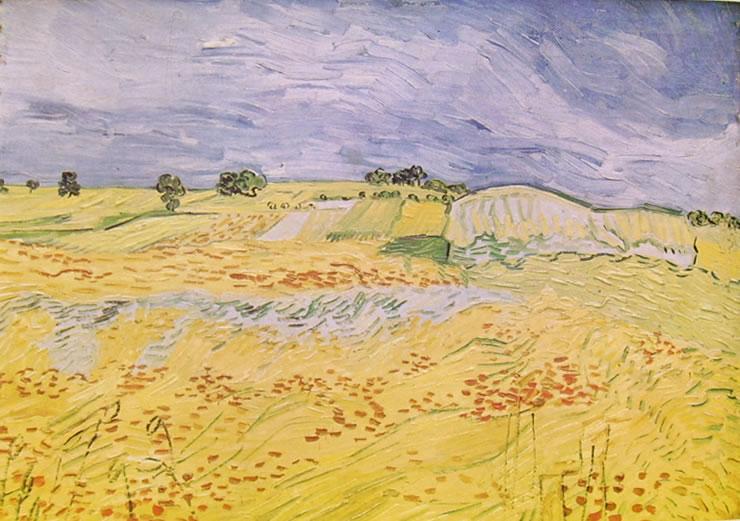 Vincent van Gogh:Paesaggio con cielo cupo