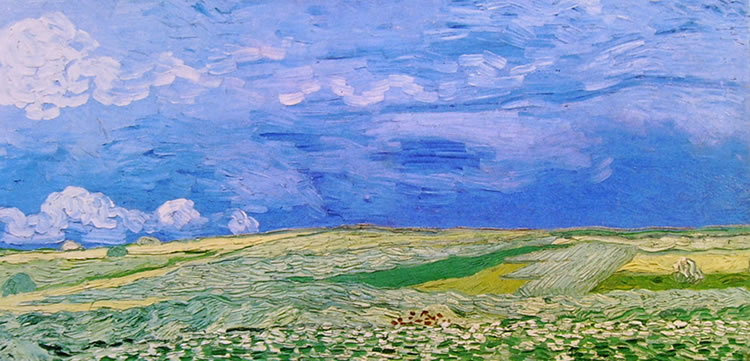 Paesaggio con cielo cupo