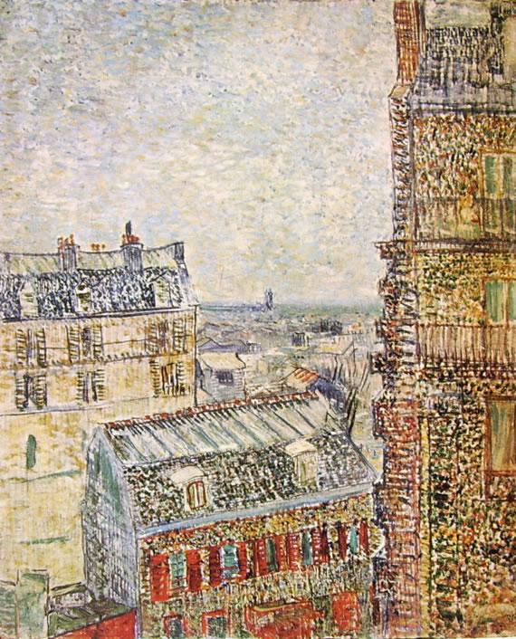 Vincent van Gogh:Rue Lepic a Parigi