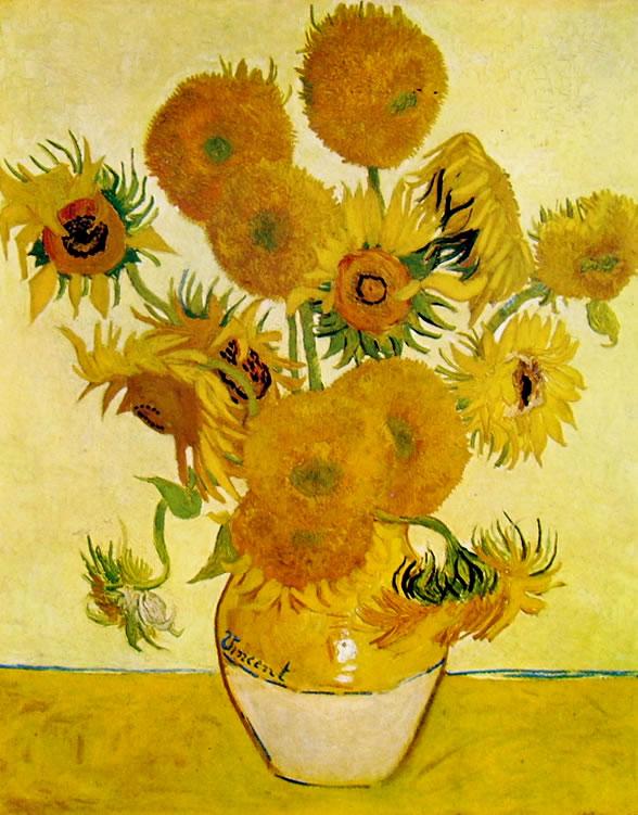 Vincent van Gogh:Vaso con girasoli