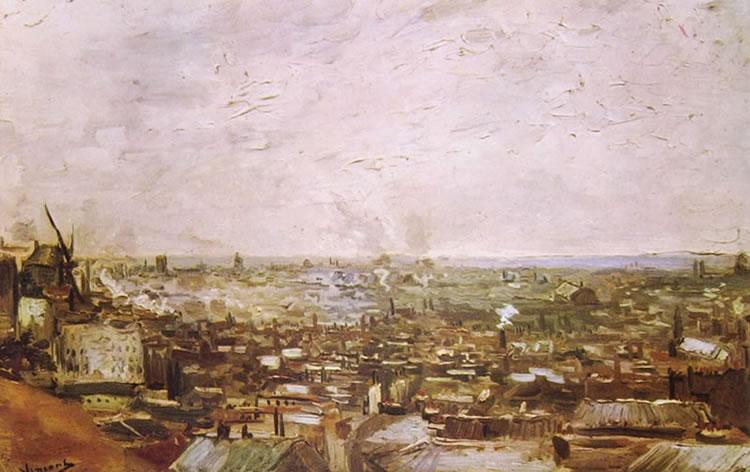 Vincent van Gogh:Veduta parigina da Montmartre