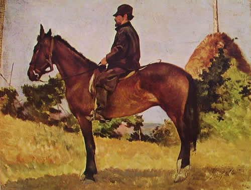 Fattori: Ritratto di Diego Martelli a cavallo