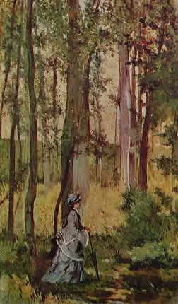 Fattori - Signora in un bosco