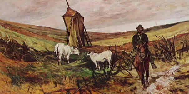 Fattori - Buttero e mucche (Museo Fattoriano)