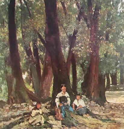 Fattori - Contadine in un bosco