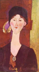 Amedeo Modigliani: Beatrice Hastings davanti a una porta
