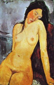 Modigliani: Nudo seduto, 92 x 60 Courtauld Institute Galleries, Londra.