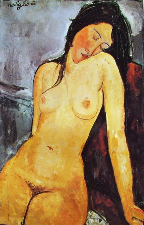Amedeo Modigliani: Nudo seduto (Courtauld Institute Gallerie)