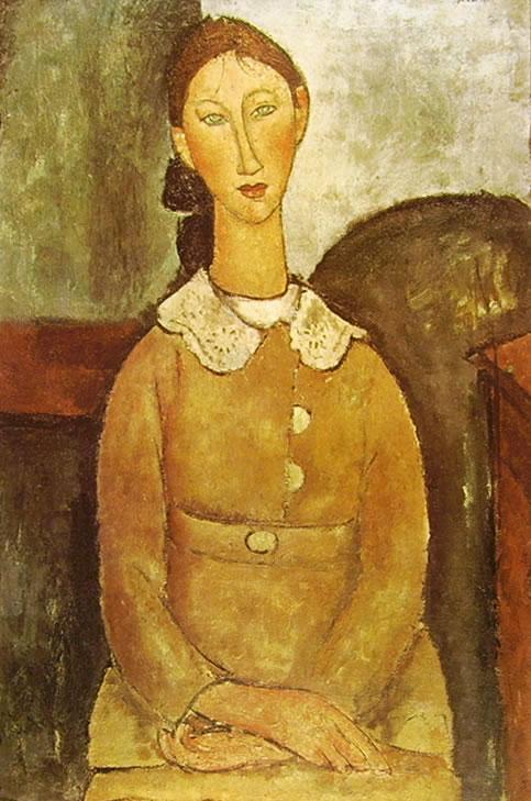 Amedeo Modigliani: Ragazza con vestito giallo