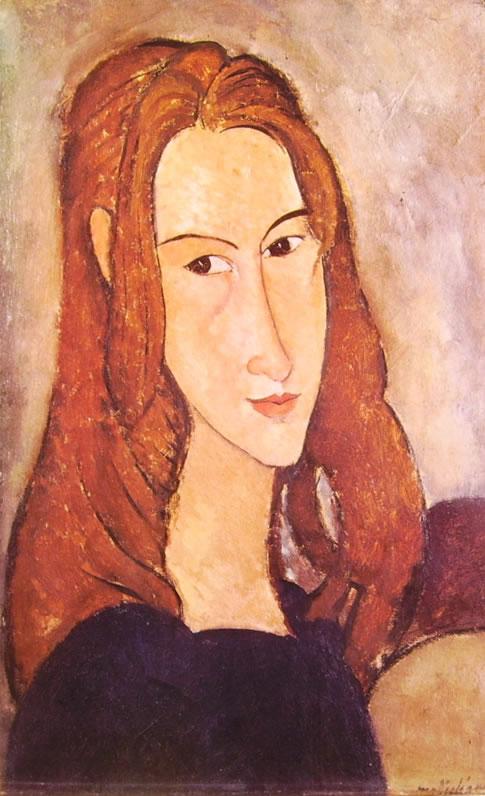 Amedeo Modigliani: Testa di Jeanne Hébuterne (1918)