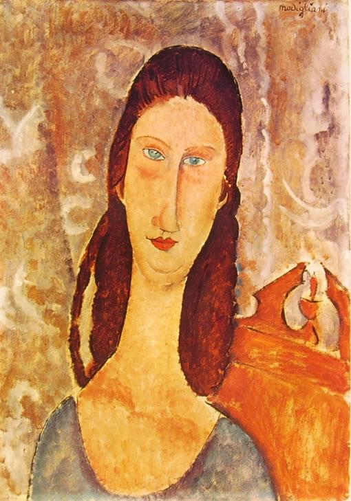 Amedeo Modigliani: Testa di Jeanne Hébuterne (1919)