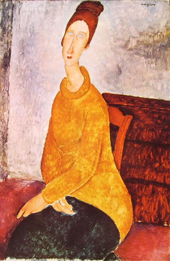 Amedeo Modigliani: Jeanne Hébuterne con maglione giallo