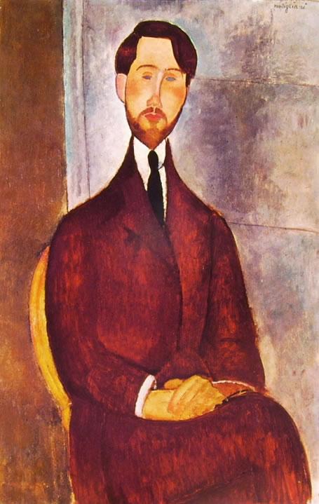 Amedeo Modigliani: Ritratto di Leopoldo Zborowski seduto