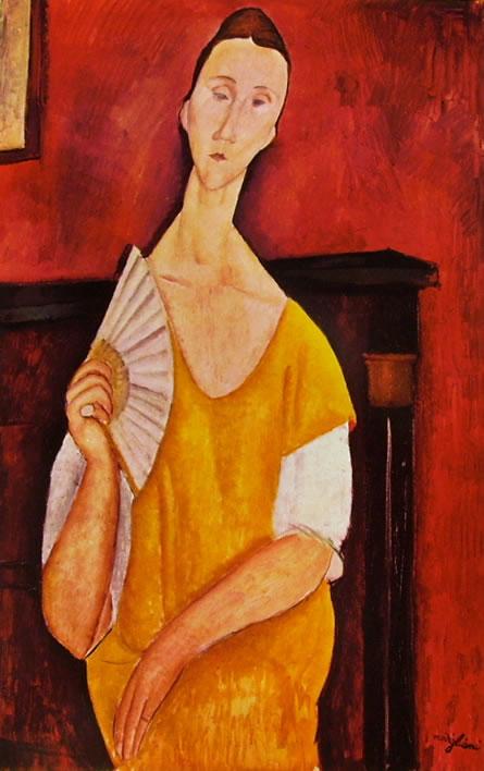 Amedeo Modigliani: Lunia Czechowska con ventaglio