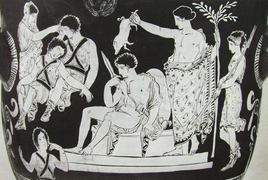Pittore delle Eumenidi: La purificazione di Oreste (louvre, parigi)