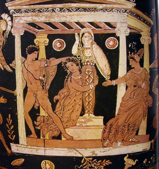 Pittore di Licurgo: Aiace che fa violenza a Cassandra