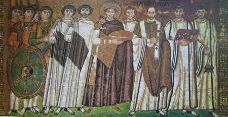 Giustiniano e la sua corte
