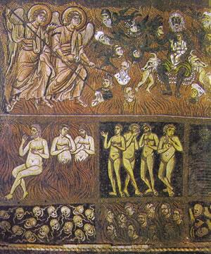 Maestranze macedoniche e tassaliche, Giudizio Universale,Torcello, controfacciata della Cattedrale, secolo XII