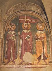 Affresco in San Pietro a Tuscania