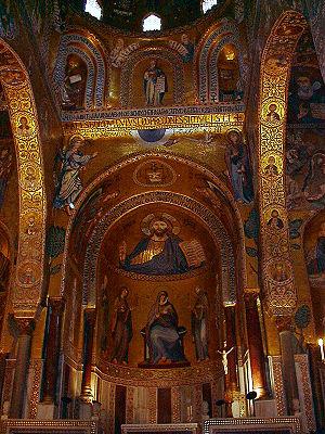 Interno della Cappella Palatina, Palermo