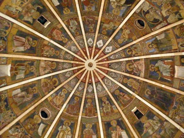 Affreschi nella cupola del Battistero di Parma
