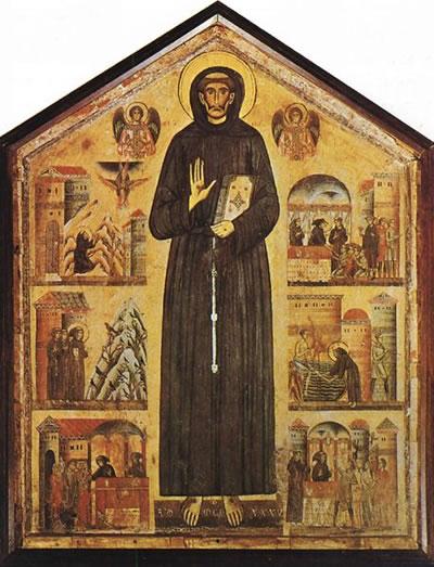 Bonaventura Berlingheri: San Francesco e gli episodi della sua vita
