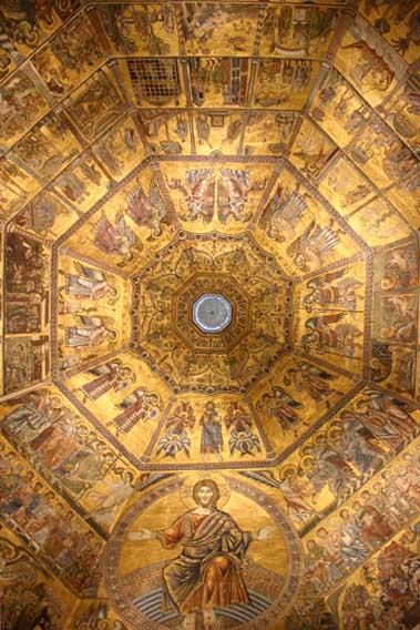 I mosaici della cupola nel Battistero di Firenze