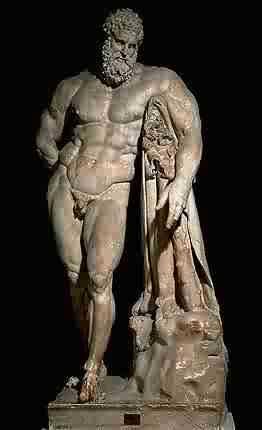 Ercole Farnese - Copia in marmo di Glycon Ateniese,