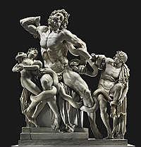 Il gruppo del Lacoonte: Copia dell'originale in bronzo
