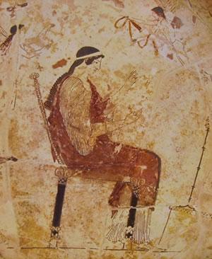 Pittore di Liandro. Particolare della coppa con Afrodite