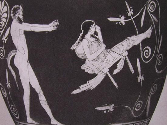 Pittore di Penelope - scifo: Menade sull'altalena