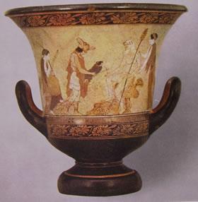 Pittore della Fiala: Cratere a Calice (Musei vaticani)