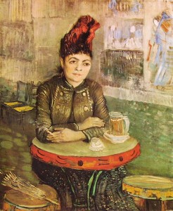Vincent van Gogh: Donna al Cafè du Tambourin, Amsterdam Rijksmuseum V. V. G.