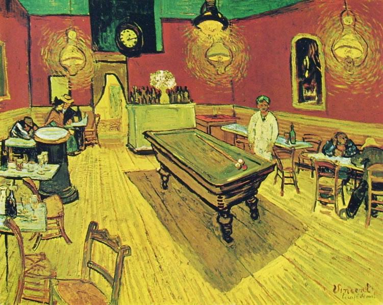 Vincent van Gogh:Interno di Caffè di notte