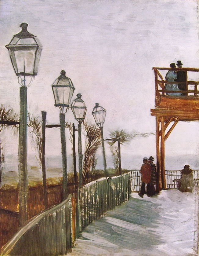 Vincent van Gogh:Terrazza del mulino de la Galette