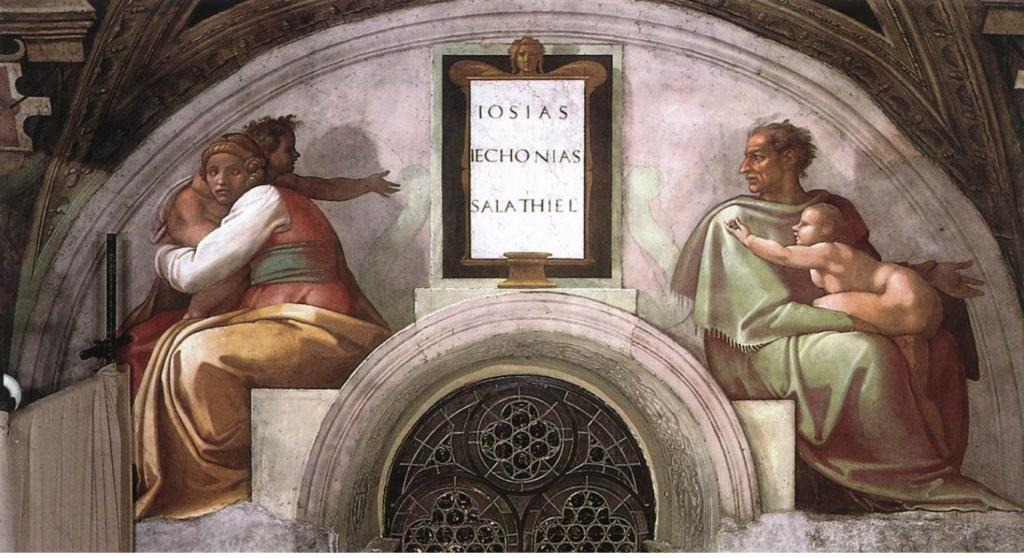 Michelangelo Buonarroti: Lunetta con Giosia, Ieconia e Salatiel