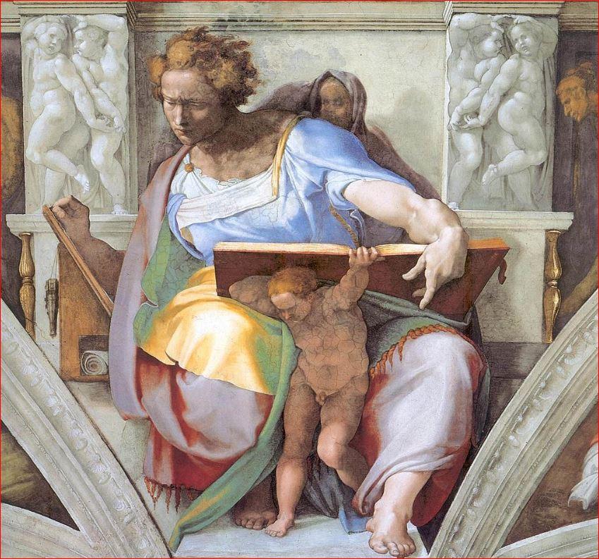 Michelangelo Buonarroti: Il profeta Daniele nella volta della Cappella Sistina