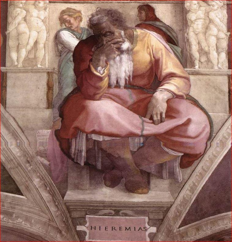 Michelangelo Buonarroti: Il profeta Geremia - volta della Cappella Sistina